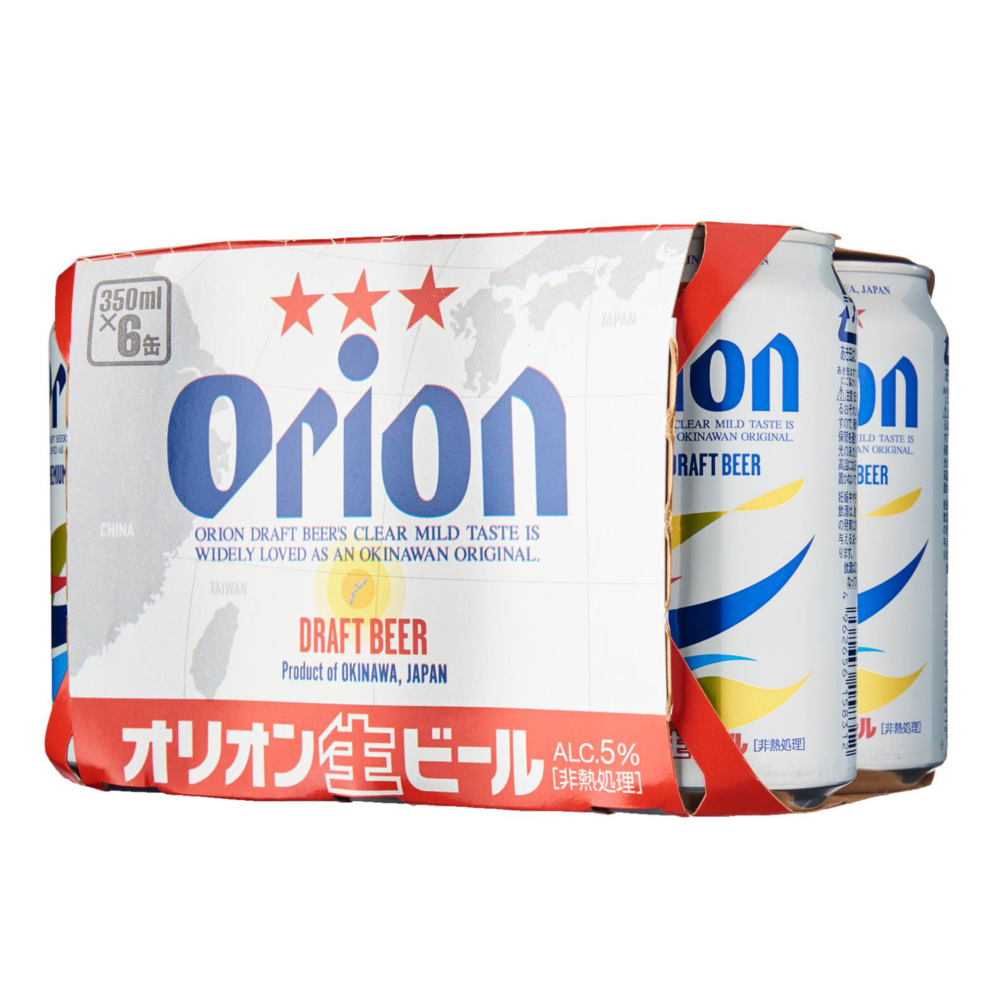 Orion Draft Beer Can 5% 350ml  (ctn: 24x350ml)