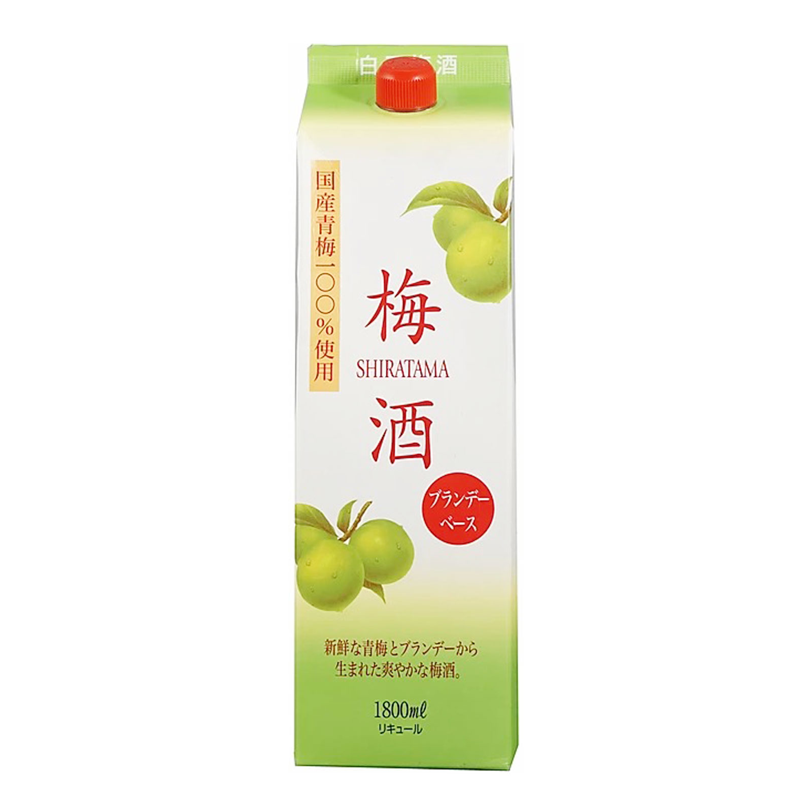 Shiratama Umeshu With Brandy Pack 12% 1800ml