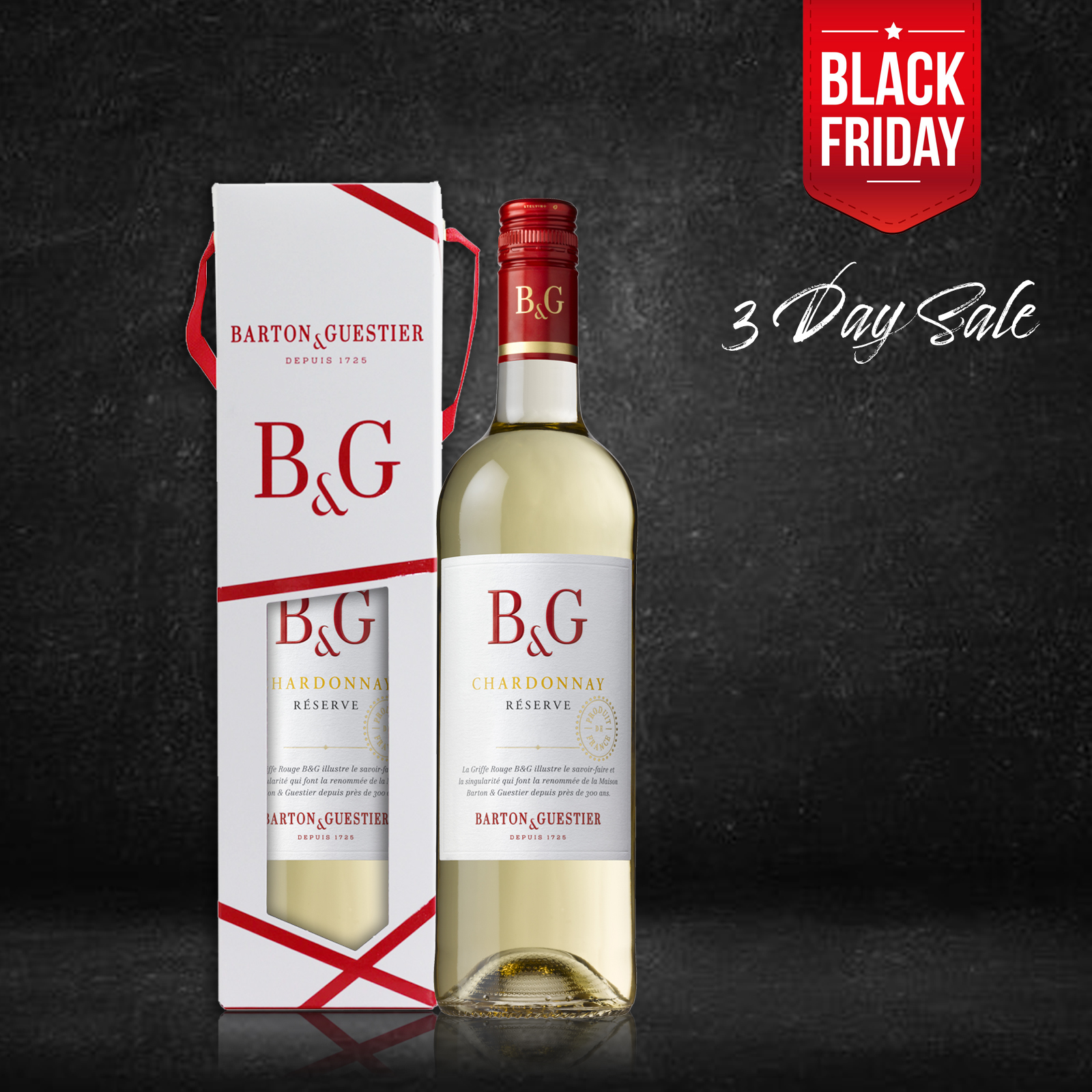 B&G Chardonnay Reserve 750ml with Gift Box